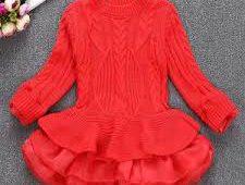 لباس بافتنی دخترانه
